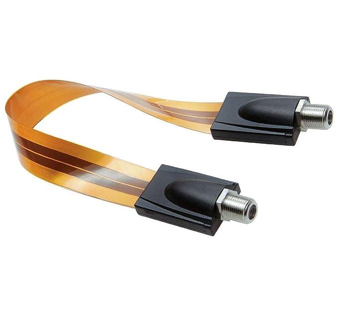 ancable fantasma Cable de pie para RG6 Coaxial Cable de puente Cable delgado de soporte de ventana extrema, 0.52 m: Amazon.es: Electrónica
