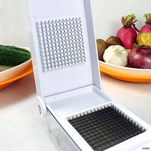 Checkout Fruit and Vegetable Chopper Swift Salad Cutter Wizard Dice, Slice and Chop Fruits, Onions, Tomatoes, Peppers, Carrots dispense