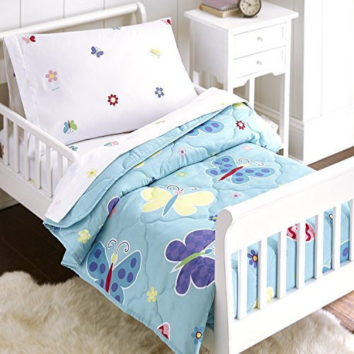 Olive Kids Butterfly Garden 4 pc Bed In a Bag - Toddler