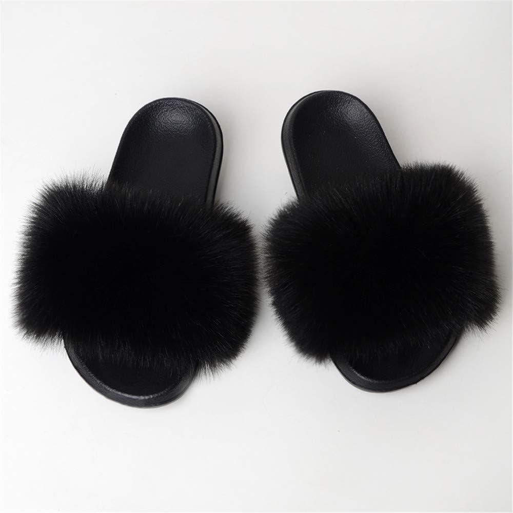 Fur Slide Slipper Sandal