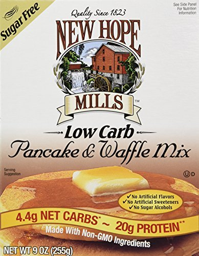 New Hope Mills Sugar Free Pancake & Waffle Mix (9 Ounces) - 2 Pack