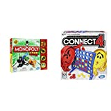 Monopoly Junior Board Game and Connect 4 Game Bundle