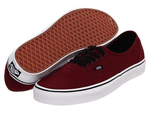 Vans Unisex Authentic Solid Canvas Skateboard Sneakers (11 B(M) US Women / 9.5 D(M) US Men, PORT ROYALE/BLACK)