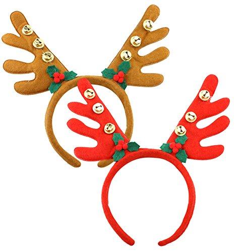 Christmas Reindeer Antlers Headband Set of -
