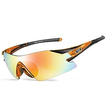 6c87e9f1e748b3 CoolChange Anti UV 400 Cadre noir Lunettes de soleil Lunettes de cyclisme  coupe-vent VTT