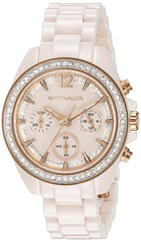 Wittnauer Womens WN4072 16mm Ceramic Pink Watch Bracelet (Womens Wittnauer Watch Ceramic)