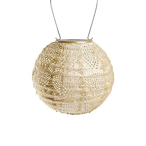 Allsop Home & Garden 31771 Soji Stella Solar Lantern, Pearl Wave Globe by Allsop Home and Garden