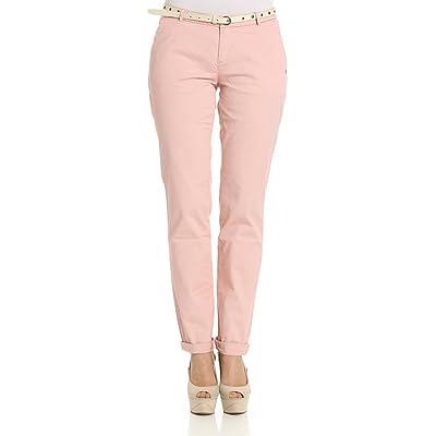Scotch & Soda Femme 14350318SSLMC8071 Rose Coton Pantalon