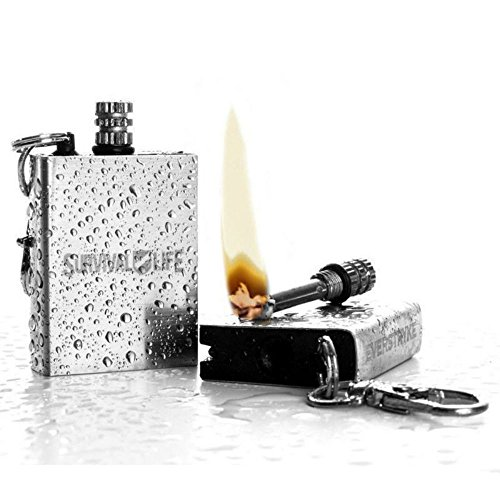 Waterproof Fire Starter Perma Match Survival Lighter Keychain Outdoor Camping US by Unknown