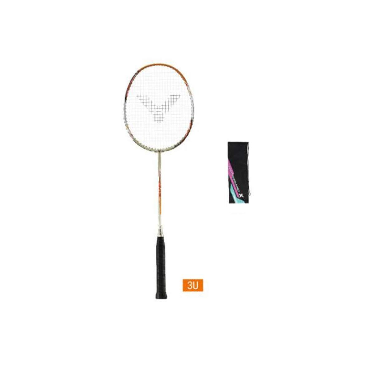 Tongboshi Badminton Racket, Training Grade, Full Carbon Fiber Badminton Racket, Champagne Gold, Amber Gold Badminton Racket, (Color : Champagne Gold, Material : 3U)