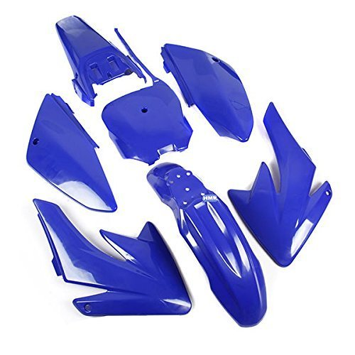 HMparts CARENATURA Set DIRT BIKE PIT BIKE CRF 70 - stile tipo 6 Blu