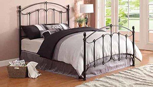Coaster 300395KE Home Furnishings Bed, Eastern King, Antique Brass (Bedroom Brass Daybed)