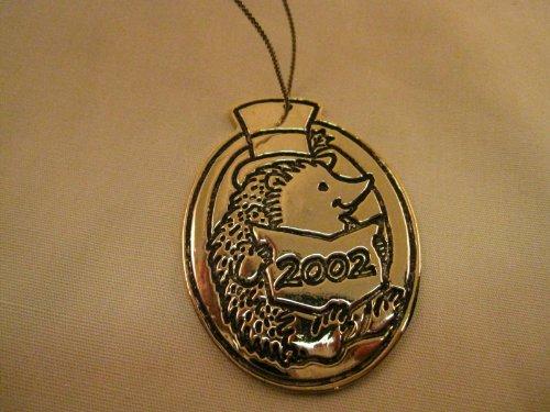 Limited Edition.... Metal.... Pocket Dragon Hedgehog Ornament....Dated 2002