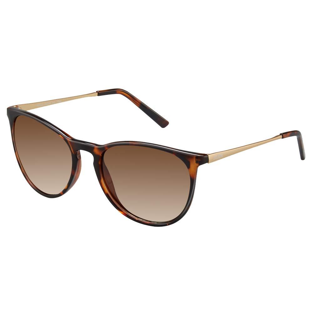 JOJEN Vintage Round Sunglasses for Women's Ultra Light Polarized Lens TR90 Superlight Frame JE017 (Tortoise Shell Frame Brown Lens)