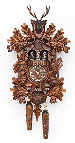 Trenkle Quartz Cuckoo Clock Hunting Clock, with Music, Turning Dancers TU 378 QMT HZZG - Hunting Cuckoo Clock