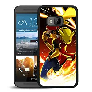 Fashionable and Nice HTC ONE M9 Case Design with Pokemon 35 Black Cover