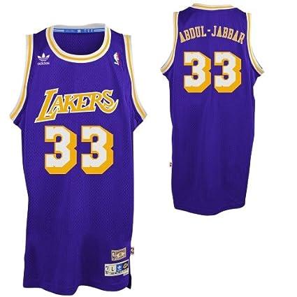 2e4b1ee2d8de Amazon.com   Mens Los Angeles Lakers Kareem Abdul-Jabbar adidas Purple  Hardwood Classics Swingman Jersey   Sports   Outdoors