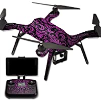 MightySkins Protective Vinyl Skin Decal for 3DR Solo Drone Quadcopter wrap cover sticker skins Purple Style