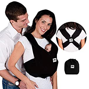 Baby K'tan Original Baby Wrap Carrier, Infant and Child Sling – Simple Pre-Wrapped Holder for Babywearing – No Tying or…