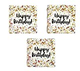 Creative Converting Sprinkles Birthday Napkins (48) Party Bundle