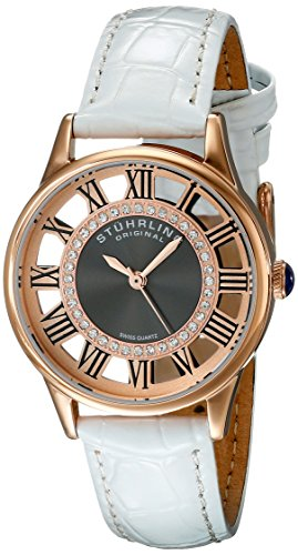 Stuhrling Original Women's 890L.03 Vogue Analog Display Swiss Quartz White Watch
