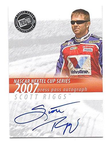 SCOTT RIGGS 2007 Press Pass AUTOGRAPH Card NASCAR Racing (Riggs Nascar Scott)