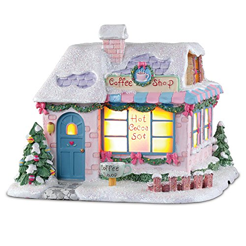 (Hawthorne Village Precious Moments Light Up Collectible: Cup of Love Coffee Shop Sculpture)