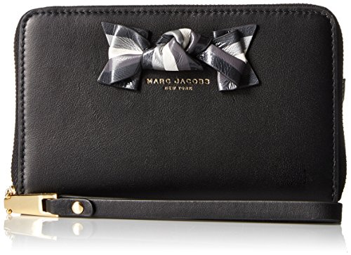 Marc Jacobs Bow Zip Phone Wristlet, Black