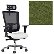 Office Master Affirm Collection AF529 Ergonomic Executive High Back Chair - JR-69 Armrests - Black Mesh Back -...