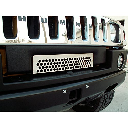 (Upgrade Your Auto Polished Stainless Steel Lower Front Grille Overlay for 2003-2007 Hummer H2)