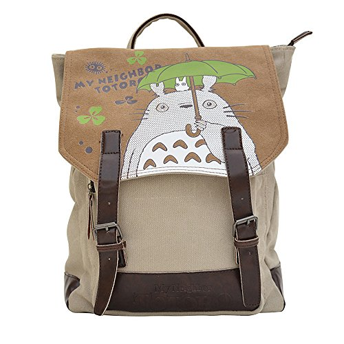 KINOMOTO Anime Tonari no Totoro Backpack Cosplay Canvas Bookbag Rucksack School Shoulder Bag