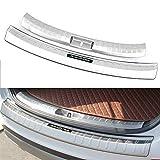 Chebay Fits for Hyundai Santa Fe Sport 2017 2018 Rear Door Bumper Plate Cover Bar Sill Trim Protector