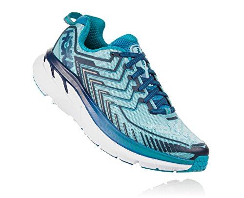 HOKA ONE ONE Women's Clifton 4 Running Shoe Blue Topaz/Imperial Blue Size 8 M US