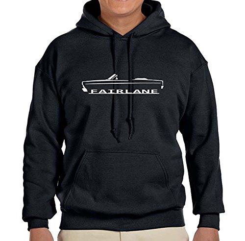 1966 1967 Ford Fairlane Convertible Classic Outline Design Sweatshirt HoodieXL black