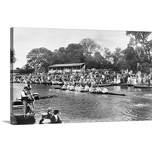 (Gallery-Wrapped Canvas Entitled Eights on The Cam, 1909, Cambridge, Cambridgeshire, England by Francis Frith Collection 36