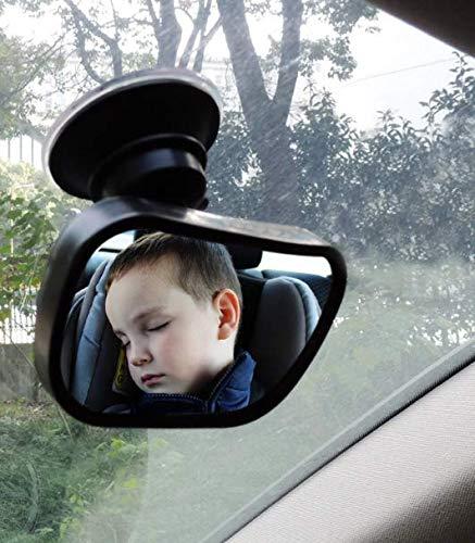 WESEEDOO Kinderautospiegel Baby-Spiegel mit Absaugung und Clip Universal Kinderr/ücksitzspiegel