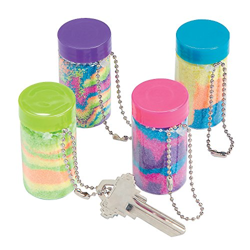 Mini Sand Art Bottle Keychains