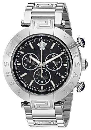 Versace-Mens-REVE-CHRONO-Swiss-Quartz-Stainless-Steel-Casual-Watch-Model-VQZ060015