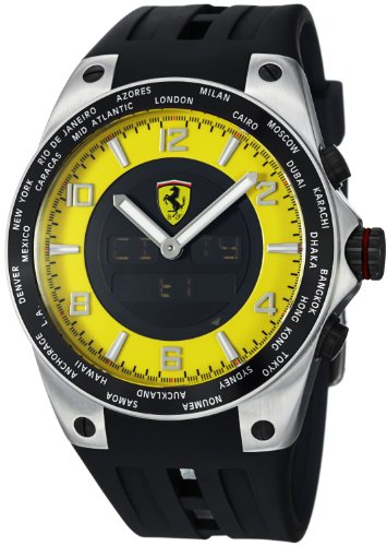 Ferrari Men's FE-05-ACC-YW 45mm Black Rubber  Swiss Made Watch