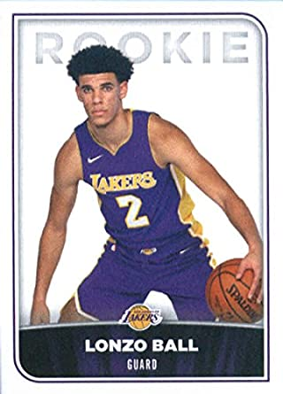 2017 18 panini nba stickers 257 lonzo ball los angeles lakers rookie basketball sticker