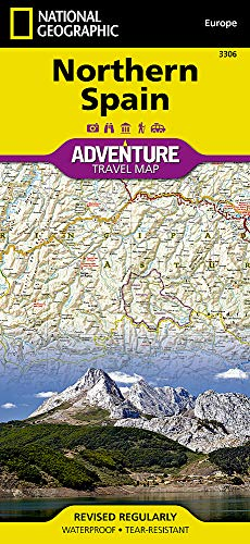 Northern Spain (National Geographic Adventure Map) (Maps Of Spain)