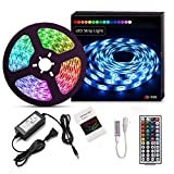 Suyoo LED Strip Light Kit 16.4ft/5m Flexible Color Changing RF Remote Led Lights