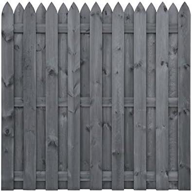 Gartenzaun Basic 100 Braun lasierte Fichte Dichtzaun Holzzaun Sichtschutz  Zaun