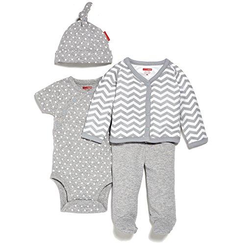 SkipHop Baby Starry Chevron 4 Piece Welcome Home Set, Grey, Newborn