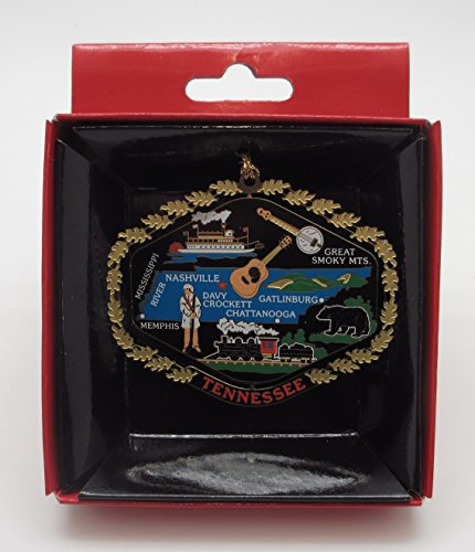 - Tennessee State Brass Color Ornament