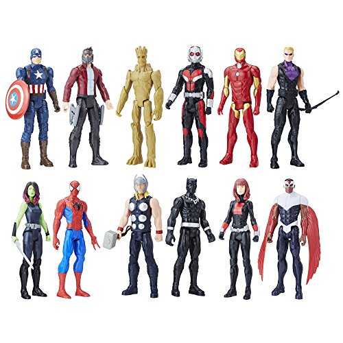 (Avengers Titan Hero Series 12 Pack, Action Figures, Ages 4 and up (Amazon Exclusive))
