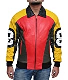 8-Ball Jacket - Leather Bomber Jacket Men, 3XL