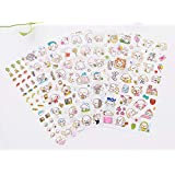 12 Sheets Peel-Off Stickers,Small Cute Dog Paper Letter Stickers Photo Stickers Pocket Sticker Korean Stationery for DIY Arts and Crafts,Life Daily Planner,Bullet Journals,Scrapbooks,Calendars (Dog)