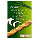 Onion & Chive Savoury Twists Waitrose 125g (Pack of 6)