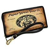 Wallet Clutch Paper Street Soap Co. Fight Club with Removable Wristlet Strap Neonblond